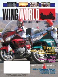 Tires: Tires: - Wing World Magazine Archives