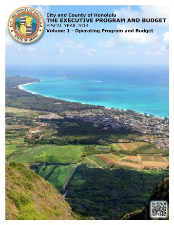 Volume 1 - Operating Program and Budget - FY 2014