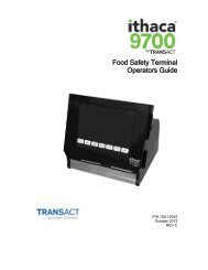 Food Safety Terminal Operators Guide - TransAct