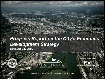 Quarterly Report Pt. 1 - Portland Economic Development Strategy