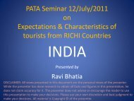 PATA Seminar 12/July/2011 on Expectations & Characteristics of ...