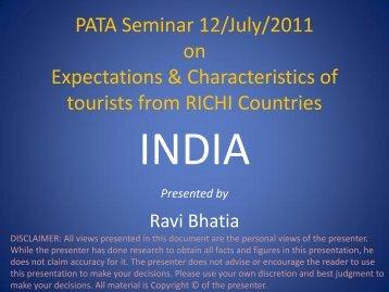 PATA Seminar 12/July/2011 on Expectations & Characteristics of ...