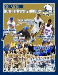 What A Year For Judson : 6 CCAC Championships