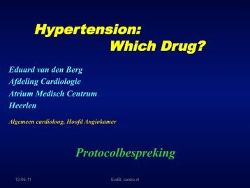 Hypertension: Which Drug? - Cardio