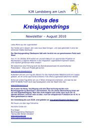 NewsletterKJR Landsberg - August 2010 - Kreisjugendring ...