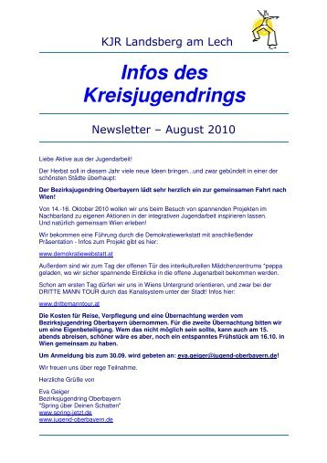 NewsletterKJR Landsberg - August 2010 - Kreisjugendring ...