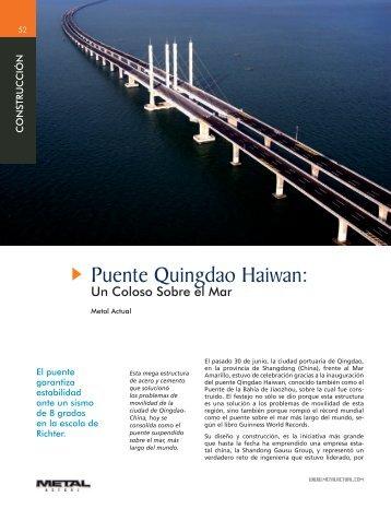 Puente Quingdao Haiwan: - Revista Metal Actual