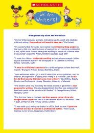 "What people say about We Are Writers ""We Are Writers ... - Scholastic"