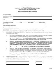 st. john health conflicts of interest disclosure statement and ...