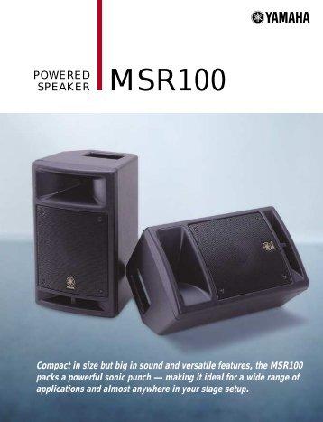 MSR100 Datasheet 141.15KB - Yamaha Commercial Audio