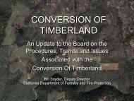 CONVERSION OF TIMBERLAND - Sonoma Land Trust