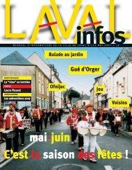 mai-juin C'est la saison des fêtes ! - Laval