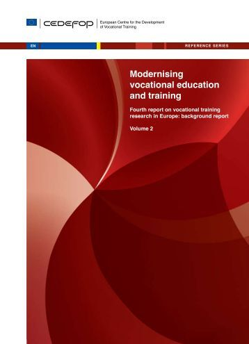 Modernising vocational education and training - Cedefop - Europa