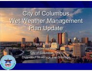 City of Columbus Wet Weather Management Plan Update