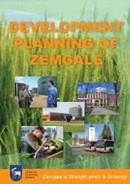 DEVELOPMENT PLANNING OF ZEMGALE