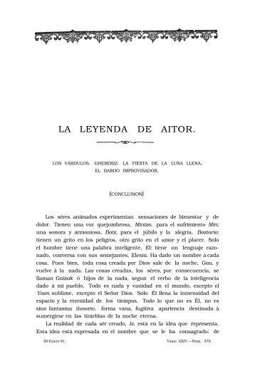 LA LEYENDA DE AITOR.