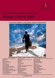 Merger Control 2006 - Morais Leitão, Galvão Teles, Soares da Silva ...