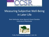 Measuring Well-Being in Later Life