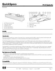 HP LCD Speaker Bar - Icecat.biz