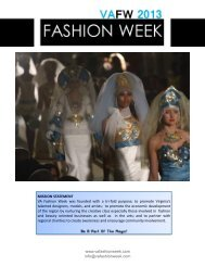 sponsor package - VA Fashion Week 2012
