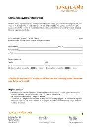 Samverkansavtal för stödföretag - Dalslands Turist AB