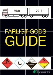 Farligt Gods Guide 2013 - BAR transport og engros