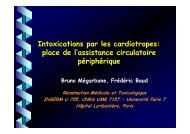 Intoxications par les cardiotropes: place de l'assistance ... - COLMU