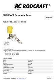RODCRAFT Pneumatic Tools - Viva
