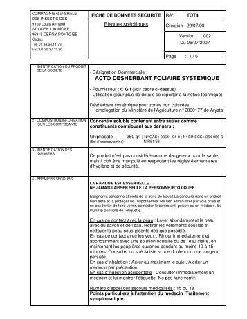 ACTO DESHERBANT FOLIAIRE SYSTEMIQUE