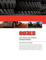 Coats Heavy Duty Tire Changer Catalog