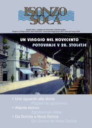 Un viaggio nel novecento PotovanJe v 20. StoletJe - Isonzo-Soca