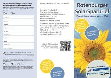 Download Flyer Rotenburger SolarSparbrief - Stadtwerke Rotenburg