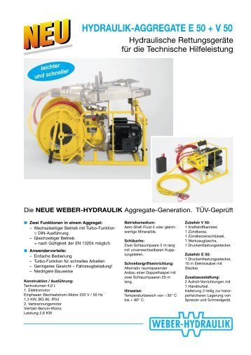 Hydraulik Aggregat E50 und V50 - WEBER Rescue