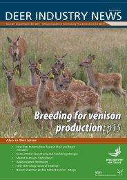 Breeding for venison production: p15 - Deer Industry New Zealand