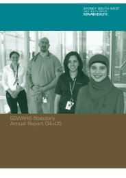 2004-05 Annual Report - Sydney Local Health District - NSW ...