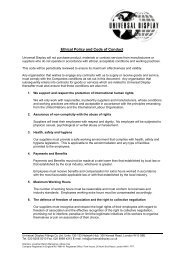 Ethical Policy and Code of Conduct - Universal Display