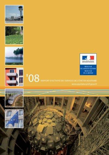 rapport_region_2008 - Préfecture de la Gironde