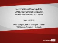 International Tax Update - BKD