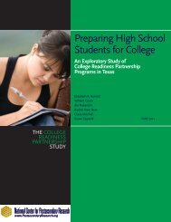 Preparing High School Students for College - ERIC - U.S. ...