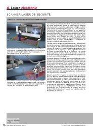 scanner laser de sécurité - Leuze electronic