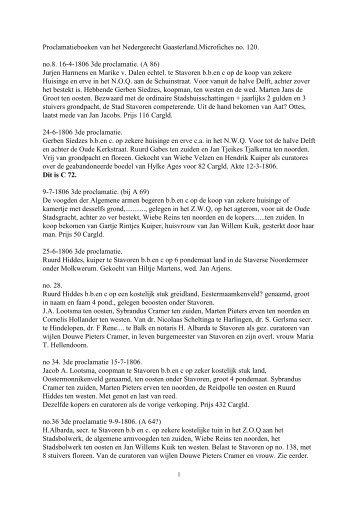 Toegang 13-36, inv. Nr. 65 Gaasterland, proclamaties