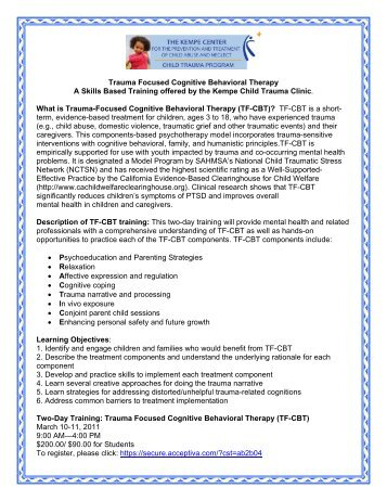 Trauma Focused Cognitive Behavioral Therapy A Skills Based ...