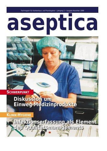 Medica FORUM 99 »Instrumenten-Aufbereitung Stand der ... - aseptica