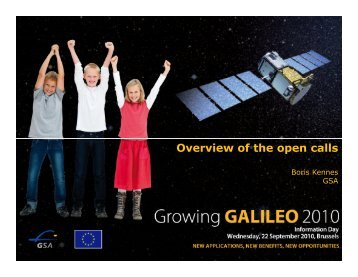 Overview of the open calls - European GNSS Agency - Europa