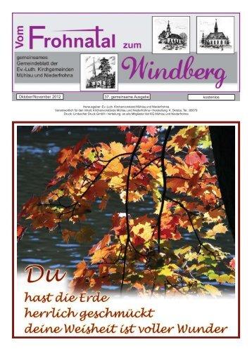 """TonArt"" Waldenburg Sonntag, den 7. Oktober 2012, 17.00 Uhr"