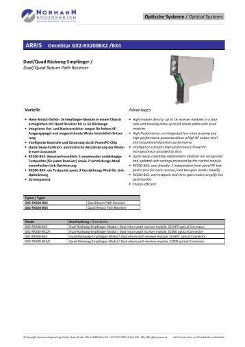 ARRIS OmniStar GX2-RX200BX2 /BX4 - Normann Engineering