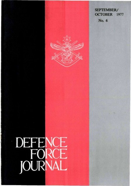 ISSUE 6 : Sep/Oct - 1977 - Australian Defence Force Journal