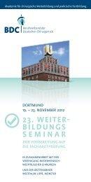 23. WEITER- BILDUNGS SEMINAR - Klinikum Dortmund