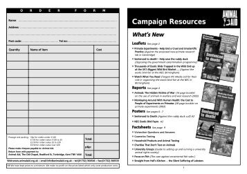 Campaign Resources - Animal Aid