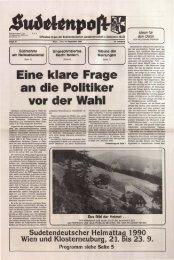 40 Jahre Karpatendeutsche Landsmannschaft OÖ. 45 ... - Sudetenpost